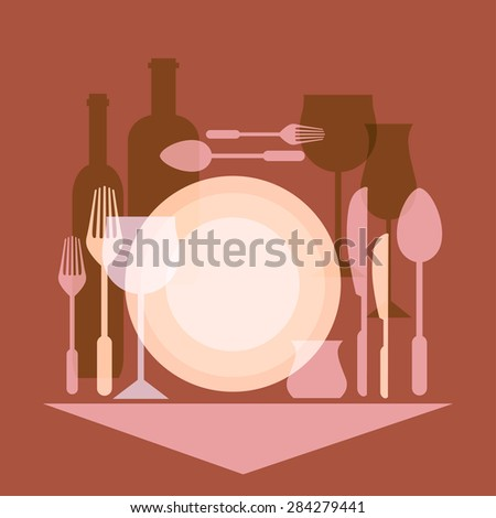 Restaurants and cafes, kitchen appliances - stock vector