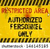 restricted area, prohibition sign,vector - stock vector