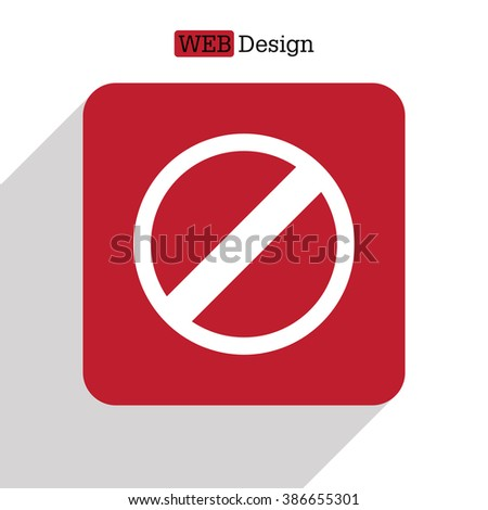 restricted icon, vector design website - stock vector