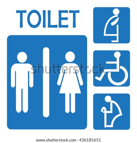 restroom bathroom - stock vector