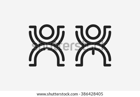 Restroom male and female sign. creative toilet signs.  - stock vector
