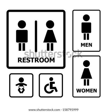 Restroom Sign - stock vector