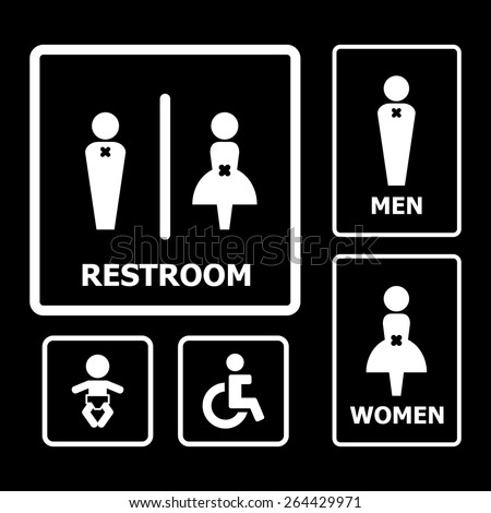 Restroom sign. Restroom Sign Stock Vector 158795999   Shutterstock