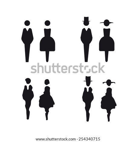 Bathroom Sign Vector Style restroom sign stock images, royalty-free images & vectors