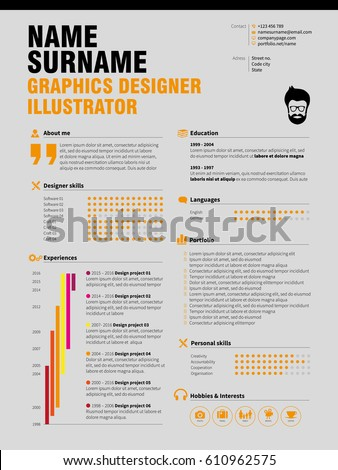 Resume Minimalist CV, Resume Template With Simple Design, Company  Application CV  Cv Or Resume