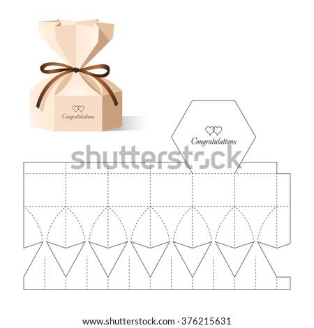 Retail box blueprint template vector de stock376215631 shutterstock retail box with blueprint template malvernweather Images