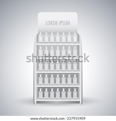 Retail Store Shelf display vector - stock vector