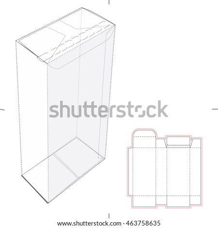 Juice Box Blueprint Template Stock Vector 425845585 ...