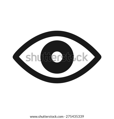 Retina scan eye flat icon for medical apps and websites - stock vector