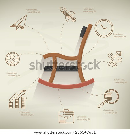 Retire concept,info graphic design on old paper background,clean vector - stock vector