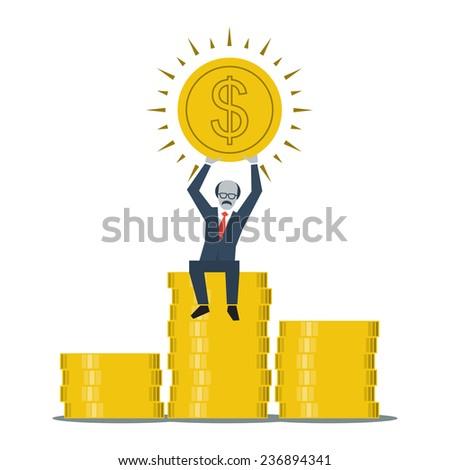 retired businessman - stock vector