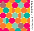 Retro abstract circle seamless pattern - stock vector