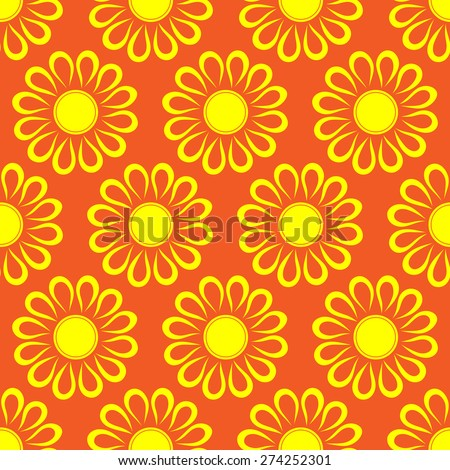 Retro abstract seamless pattern with  suns. Retro seamless patterns set.  - stock vector