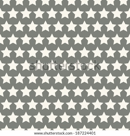 Retro abstract vector seamless pattern (tiling, with swatch). Endless texture can be used for wallpaper, fill, web background, texture. Monochrome geometric ornament. Vintage color. Star shape - stock vector