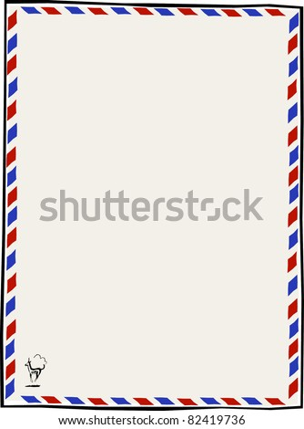 Retro Air Mail Par Avion Letterhead Vector Illustration - stock vector