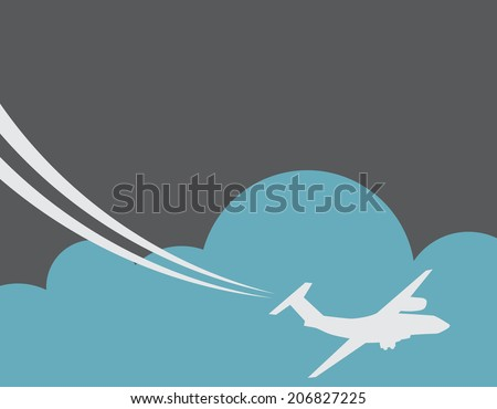 Retro Airplane Banner. Vector Illustration. - stock vector
