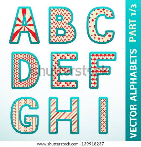 Retro Alphabet Letters Vector Illustration For Your Old Fashioned Design Set Of Character