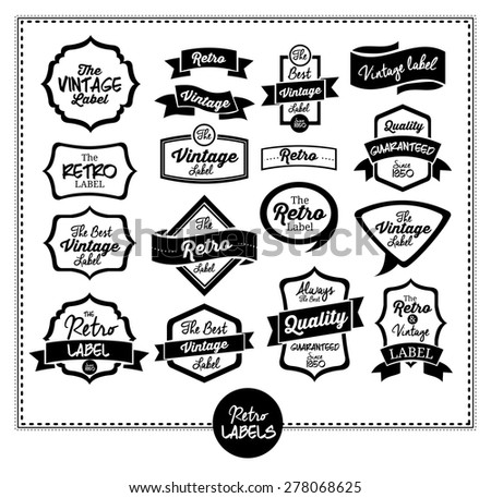 Retro and Vintage label design, vector illustration