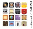 retro app icons - stock vector