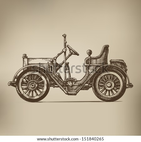 Retro Automobile - stock vector