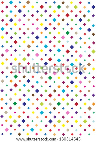 retro backdrop design with colorful squares isolated on white background