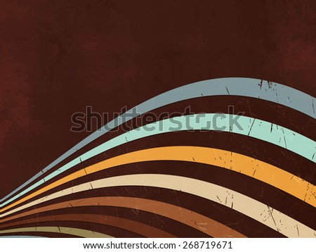 Retro background - abstract lines - 80s style - stock vector