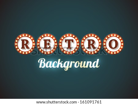 Retro background in style of an old roadsign. EPS10 vector. - stock vector