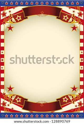 Retro background of America. An american poster with a large frame for your publicity. - stock vector