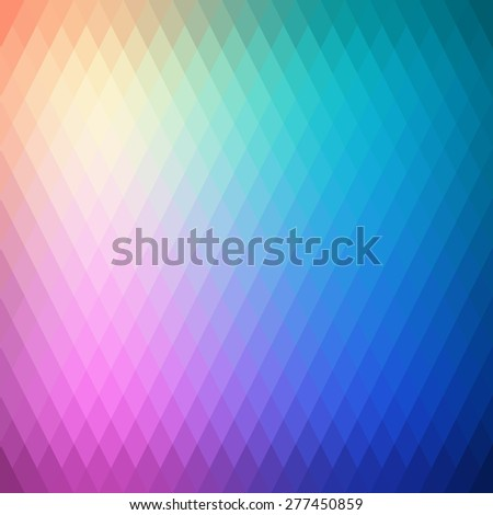 Retro background, pattern rhombs, transition bright colors, vector background. Vector backdrop of geometric shape - stock vector