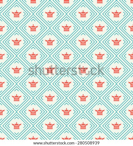 Retro background. Wallpaper pattern. Geometric background. Seamless pattern. For Your Design, Book, Poster, Invitation, Web design, Wallpapers for walls. Vector backdrop - stock vector