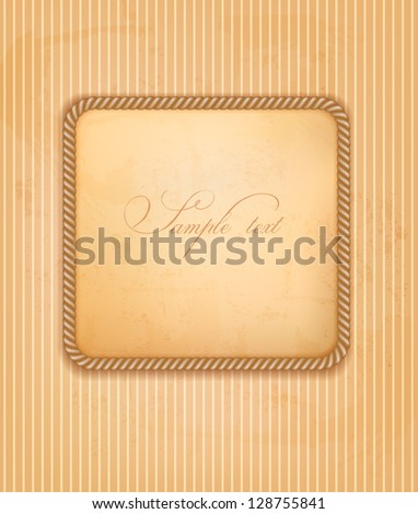 Retro background with gift bow and ribbon.  Vector - stock vector