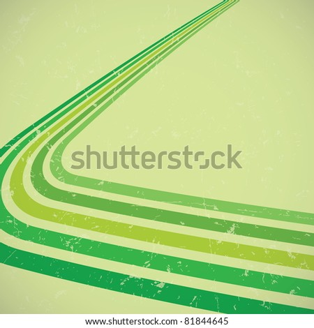 Retro background with grunge effect - stock vector