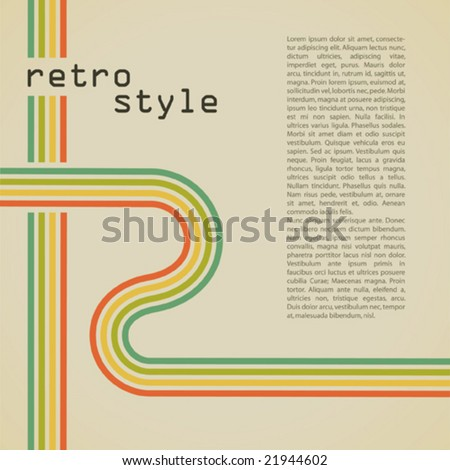 retro background with space for text - stock vector