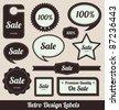Retro Badges - stock vector