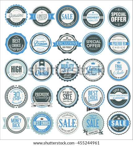 Retro badges and labels collection - stock vector