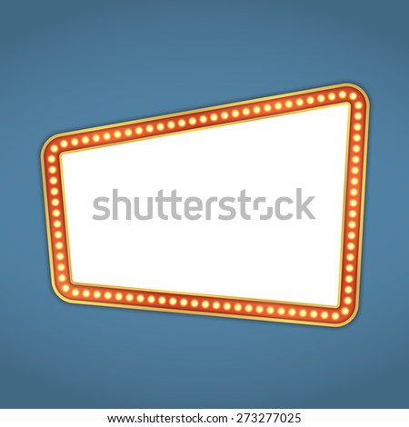 Retro banner with lights, vector eps10 illustration - stock vector