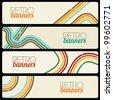 Retro Banners - stock vector