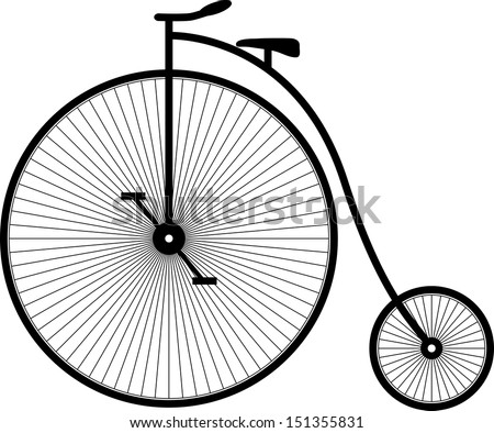 Retro bicycle. Vector Illustration - stock vector