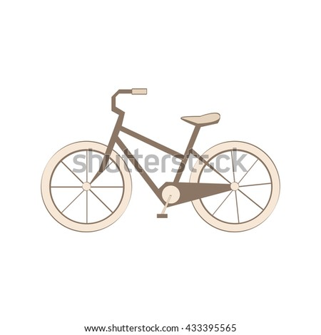 Retro bicycle vector illustration. Bicycle icon vector. Bicycle on white background