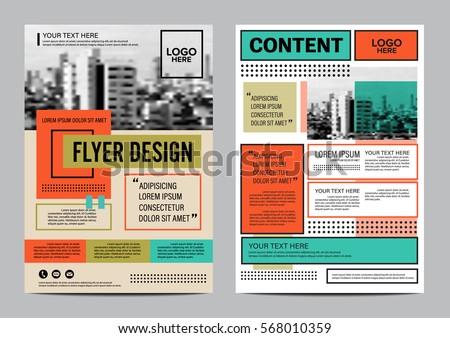 Magazine Template Images RoyaltyFree Images Vectors – Retro Brochure Template