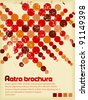 Retro brochure with color circles - stock