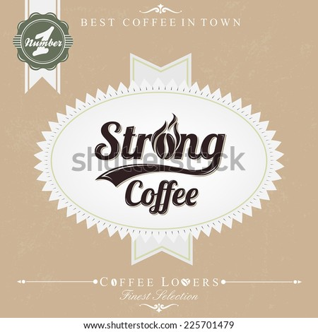 Retro Brown Vintage Coffee Background - stock vector