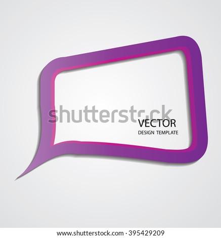 Retro Bubble Speech.  - stock vector