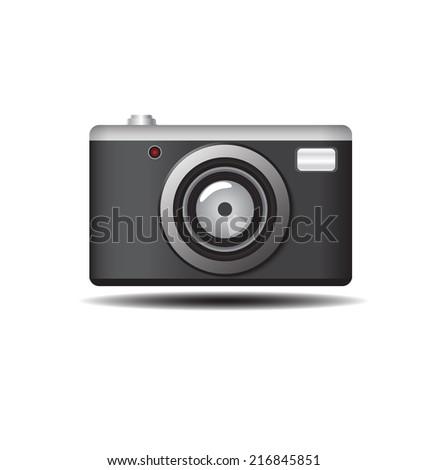 retro camera vector illustration - stock vector