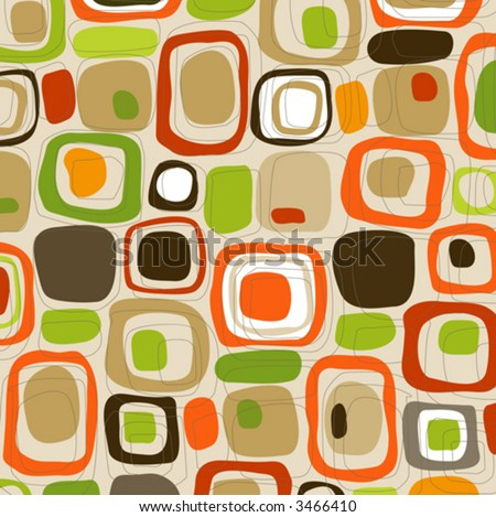 Retro Candy Cubes (Vector) Spot illustration of stylish, retro squares. All  squares complete so you can move them around! Easy-edit vector file--No transparencies or strokes! - stock vector