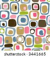 Retro Candy Squares (Vector) Spot illustration of stylish, retro squares. All  squares complete so you can move them around! Easy-edit vector file--No transparencies or strokes! - stock photo