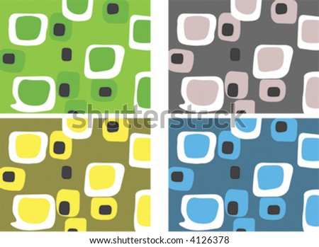 Retro Candy Squares (Vector) Spot illustration of stylish, retro squares. All squares complete so you can move them around! Easy-edit vector file - stock vector