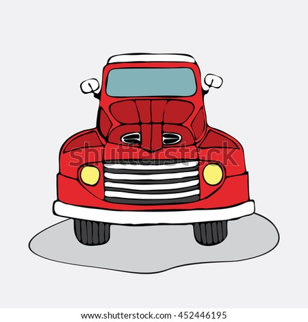 Retro car cartoon style