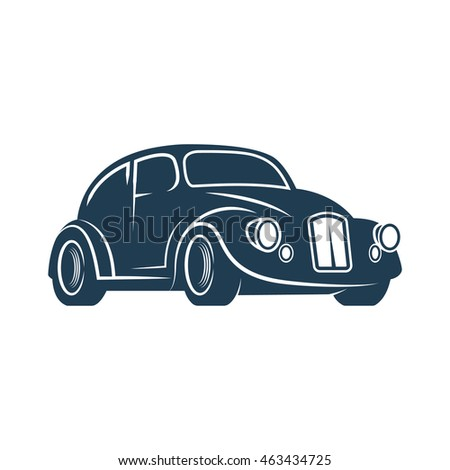 Retro car. Classic car. Vintage style. Vector illustration.