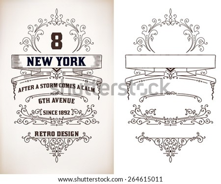 Retro card over old paper - stock vector